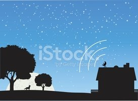 House,Silhouette,Rural Scen...