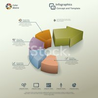 Infographic,Four Objects,Ci...