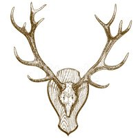 Horned,Stag,Hunting,Animals...