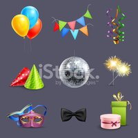Group of Objects,Bow,Party ...