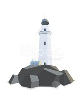 Lighthouse,Blue,Symbol,Vect...