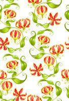 Watercolor gloriosa seamless floral pattern