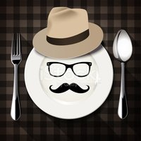 Checked,Plate,Spoon,Plaid,F...