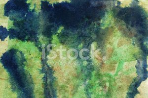 Drippy watercolor background with pools of paint