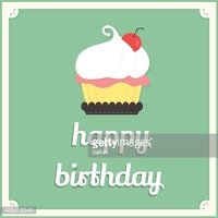 happy birthday cup cake card