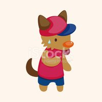 animal summer cartoon theme elements