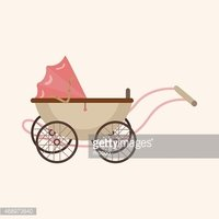 Baby carriages theme elements