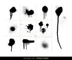 Spray Paint,Black And White...