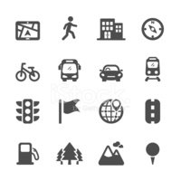 map location icon set 2, vector eps10