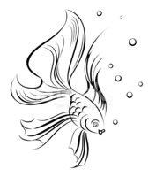 Tattoo,Fish,Drawing - Art P...