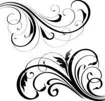 Vector,Scroll Shape,Black C...