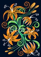 Lily,Orchid,Tiger Lily,Orna...