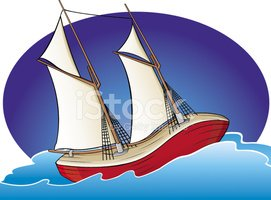 Sailing Ship,Cartoon,Nautic...
