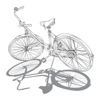 Retro Cruiser Bike stock vectors - Clipart.me