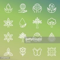 Vector ecology and organic icons