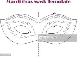 Mardi Gras Carnival Printable Template Vector Illustration Clipart Images