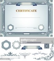 Certificate with design elements