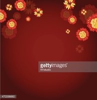 vector of abstract Flower for Chinese new year background