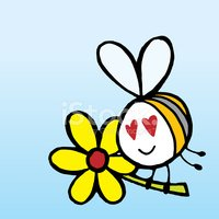 Bee,Cartoon,Love,Insect,Lov...