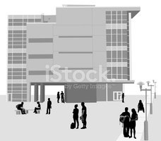 Modern,Office Building,Silh...