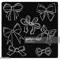 vector illustration silhouettes of bows