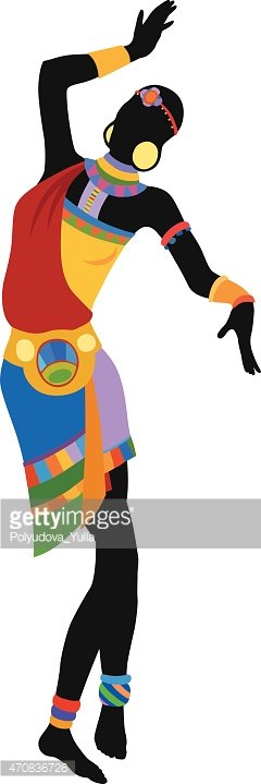 Ethnic Dance African Woman stock vectors - Clipart.me