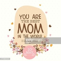 Happy Mother's Day celebration greeting or invitation card .