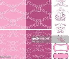 seamless patterns - ornaments with wedding rings