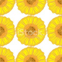 Sunflower,Pattern,Seamless,...