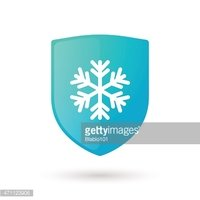 Shield icon with a snow flake