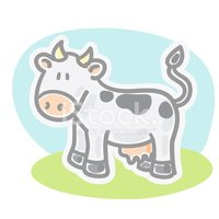 Cow,Farm,Livestock,Cartoon,...