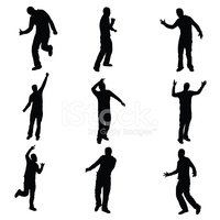 Dancing,Silhouette,Men,Peop...
