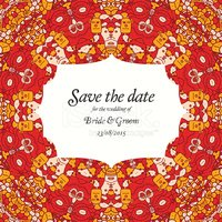 Flower,Doodle,Save The Date...