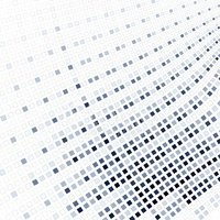 Abstract fractal blue square pixel mosaic illustration
