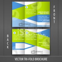 Tri-fold business store brochure template, cover design