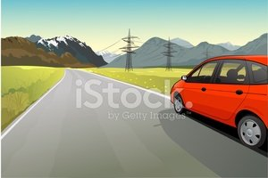 Car,Road,Red,Hill,Mountain,...