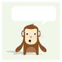Monkey,Ape,Cartoon,Speech B...