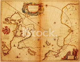 Map,North Pole,Old,Arctic,C...