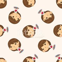 business people character , cartoon seamless pattern background