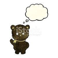 Bear,Thought Bubble,Doodle,...