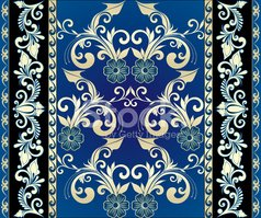Floral Pattern,Rococo Style...