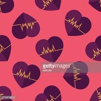 ECG flat icon, eps10 seamless pattern background