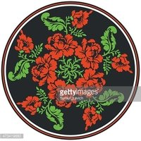 floral seamless pattern. Russian traditional ornament.