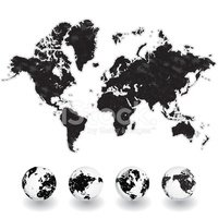 World Map,Map,Globe - Man M...