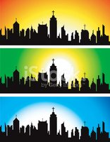 Church,City,Urban Skyline,V...