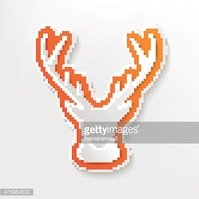 Deer design on white background,clean vector