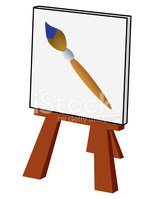Paintbrush,Easel,Painter,Ar...