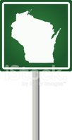 Wisconsin,Map,state,Road Tr...