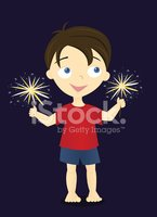 Sparkler,Barefoot,Child,Littl…