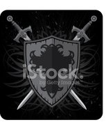 Shield,Sword,Coat Of Arms,C...